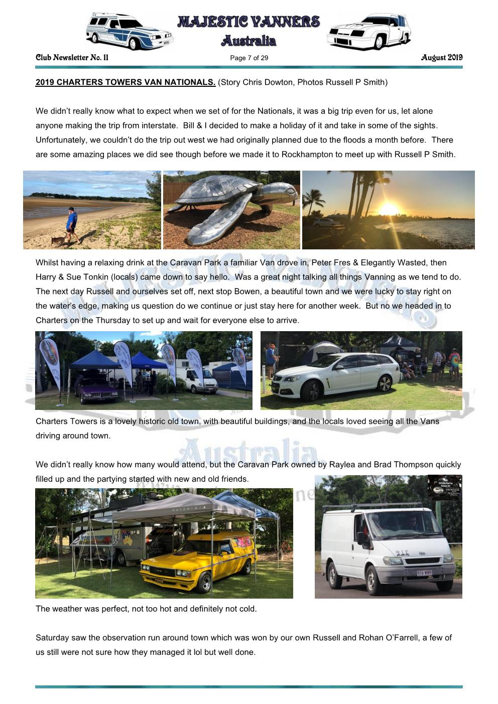 MAJESTIC VANNERS Newsletter Issue No: 11 August 2019 Mv_new45