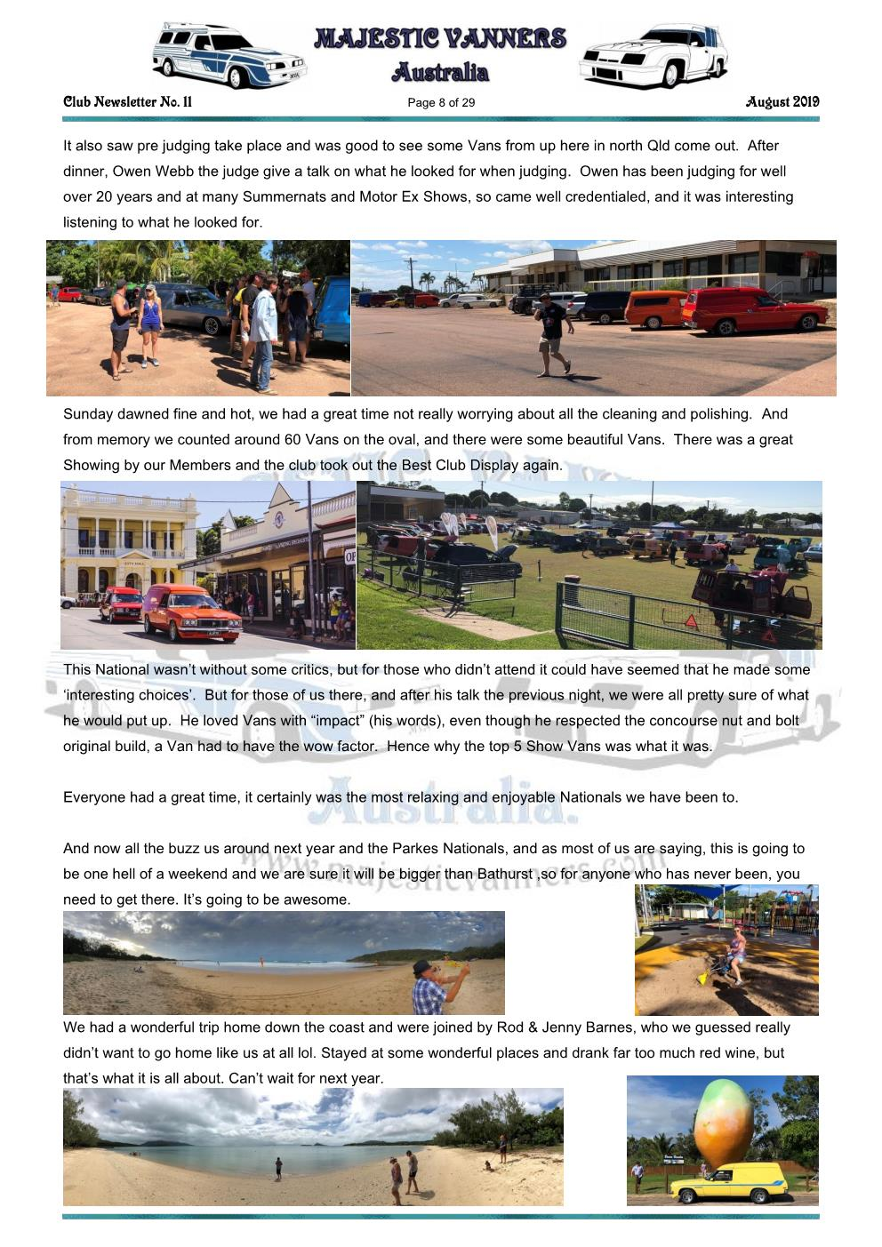 MAJESTIC VANNERS Newsletter Issue No: 11 August 2019 Mv_new47