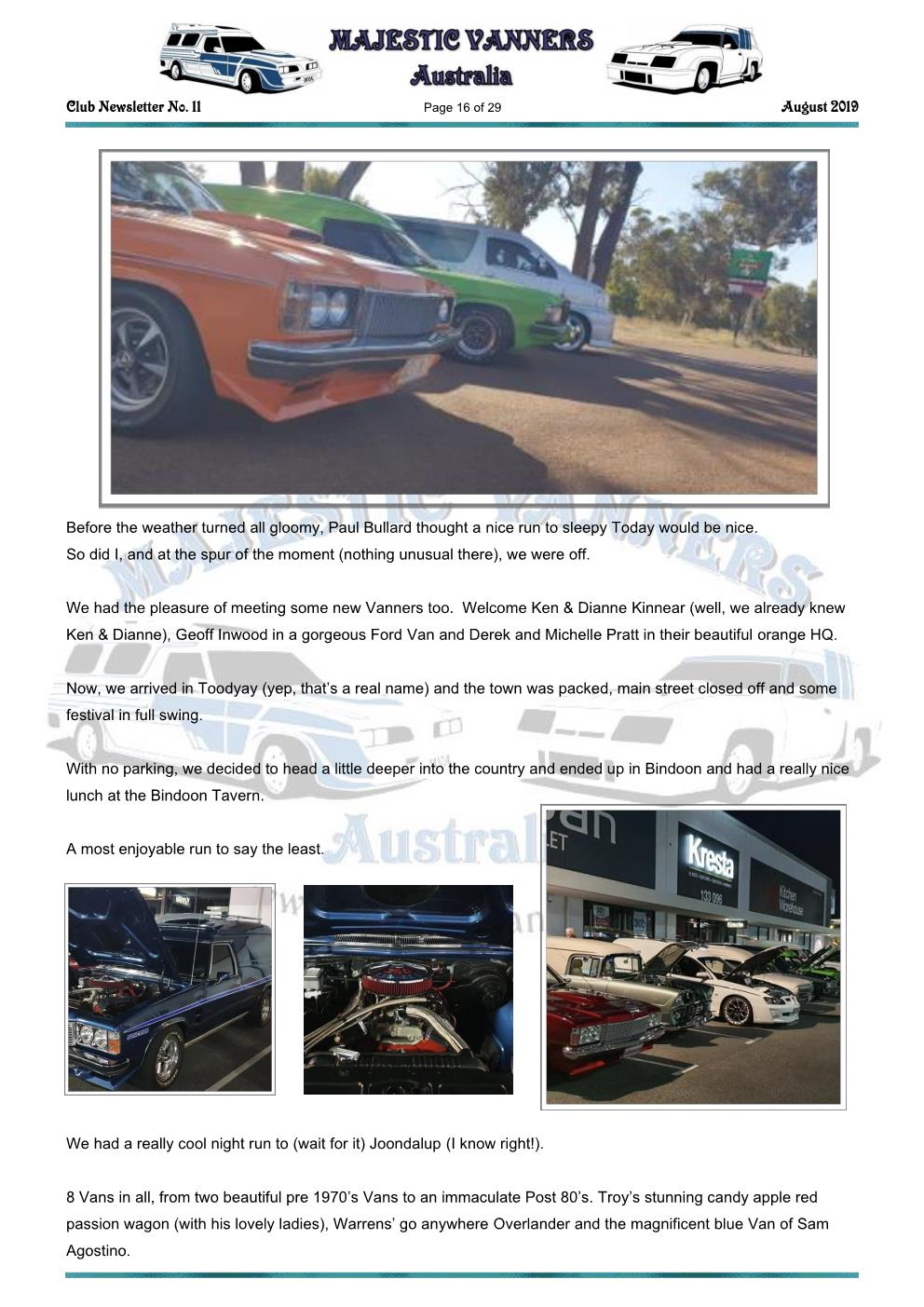 MAJESTIC VANNERS Newsletter Issue No: 11 August 2019 Mv_new55