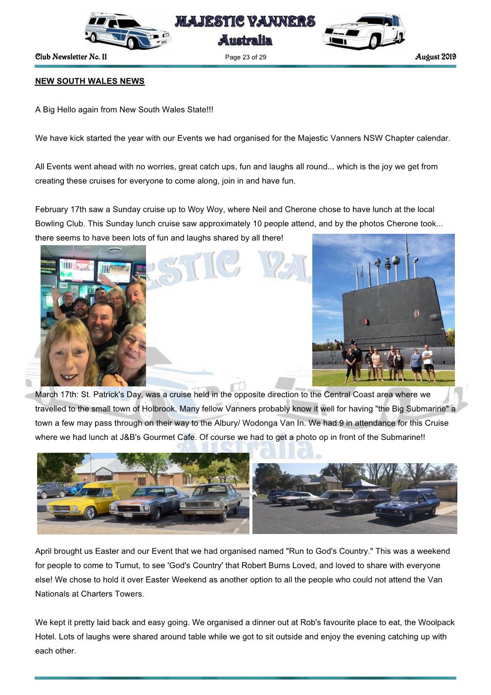 MAJESTIC VANNERS Newsletter Issue No: 11 August 2019 Mv_new61