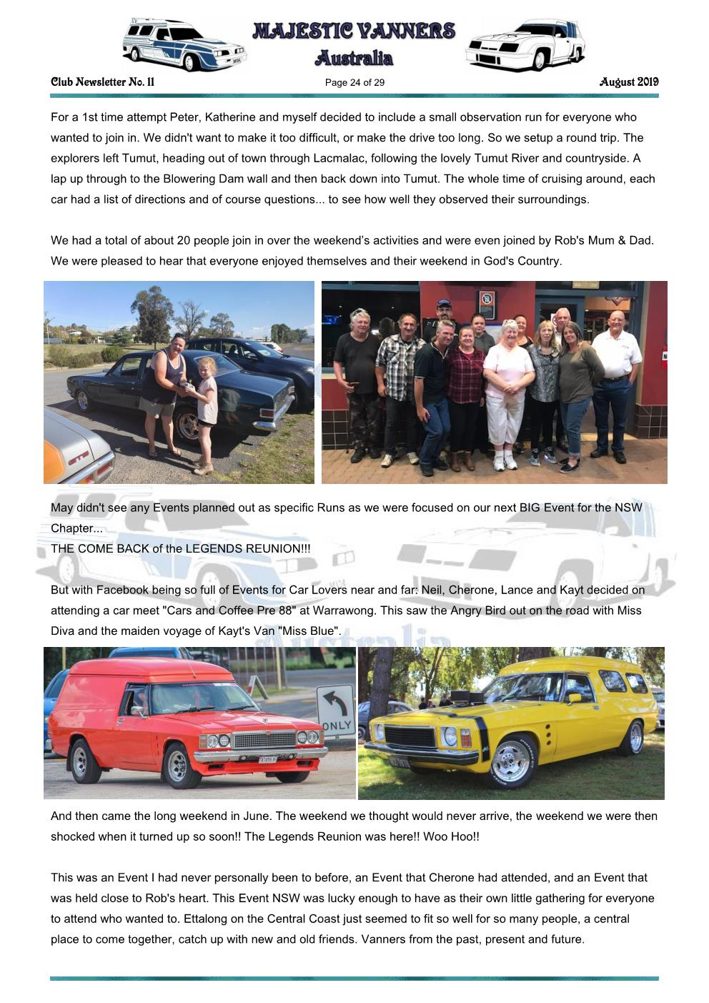 MAJESTIC VANNERS Newsletter Issue No: 11 August 2019 Mv_new62