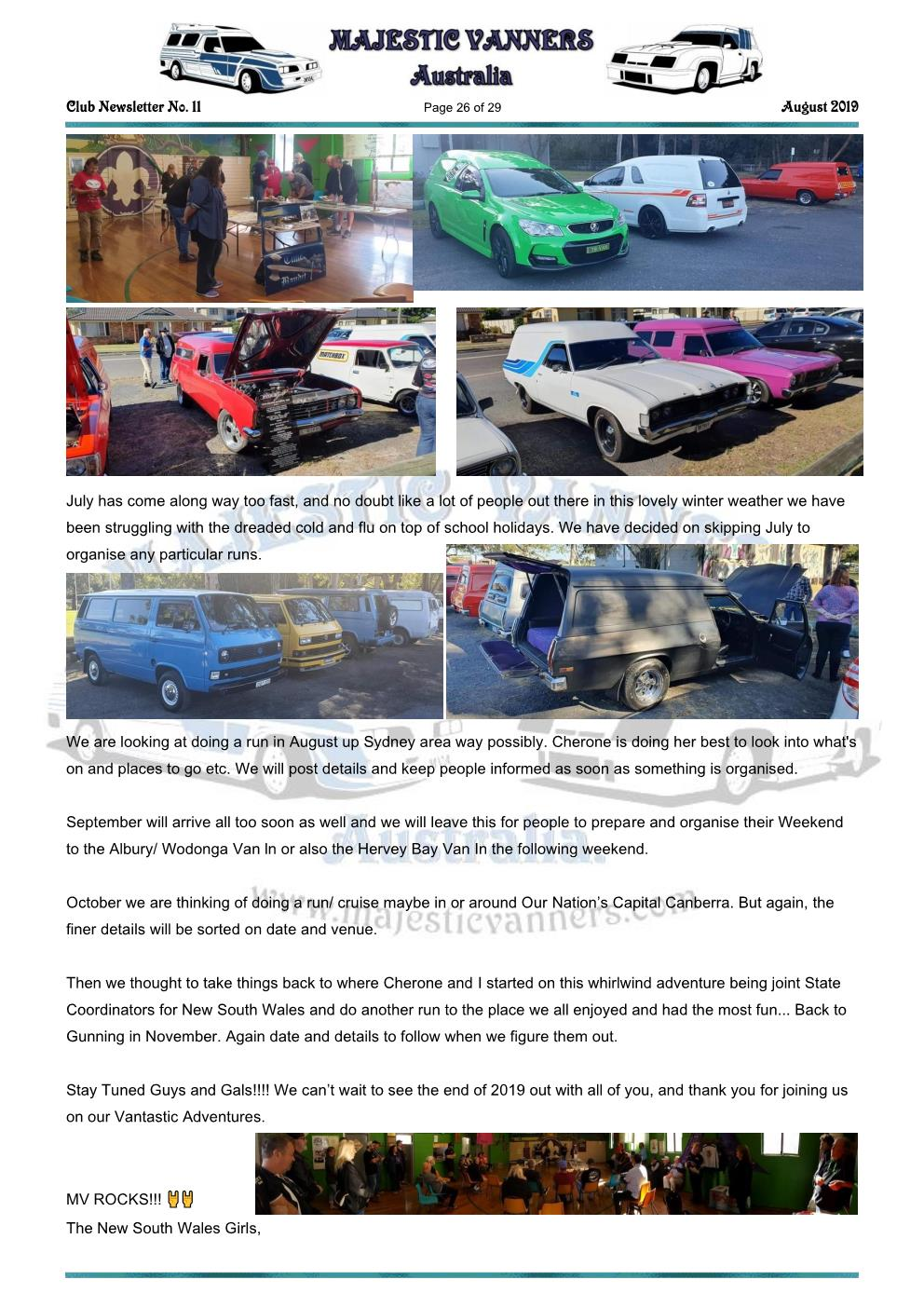 MAJESTIC VANNERS Newsletter Issue No: 11 August 2019 Mv_new64