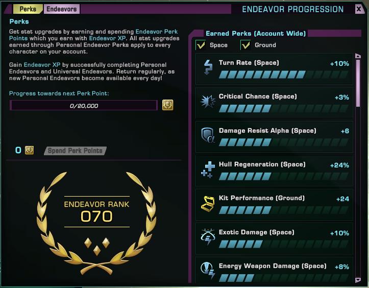 Réussir les Personnal Endeavors Endeav10