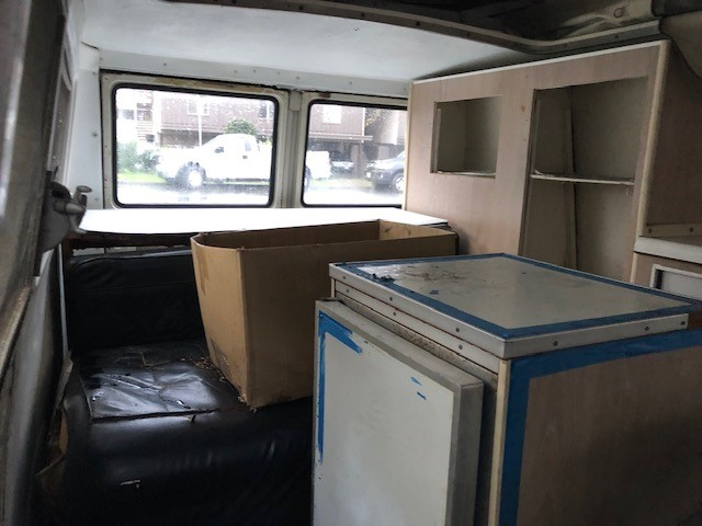 1967 A-100 camper removing and selling interior 67_int10