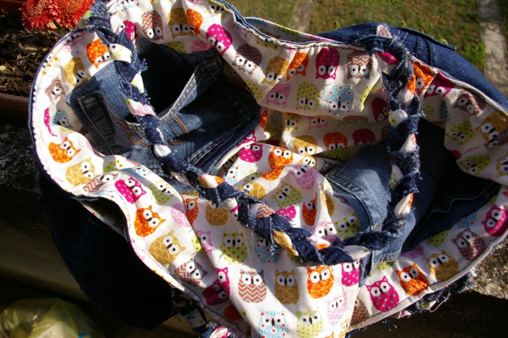 Un sac en jean ... et hiboux !! Imgp9611