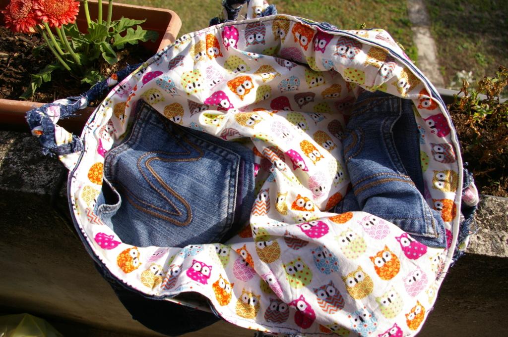Un sac en jean ... et hiboux !! Imgp9612