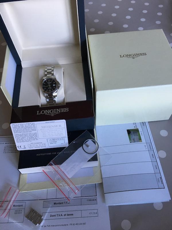 [Baisse de prix-Vends] Longines Conquest femme 499 euros Img_1211