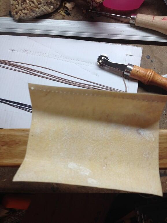 Reparación de arco con pliegues - camisa o parche de pergamino 510