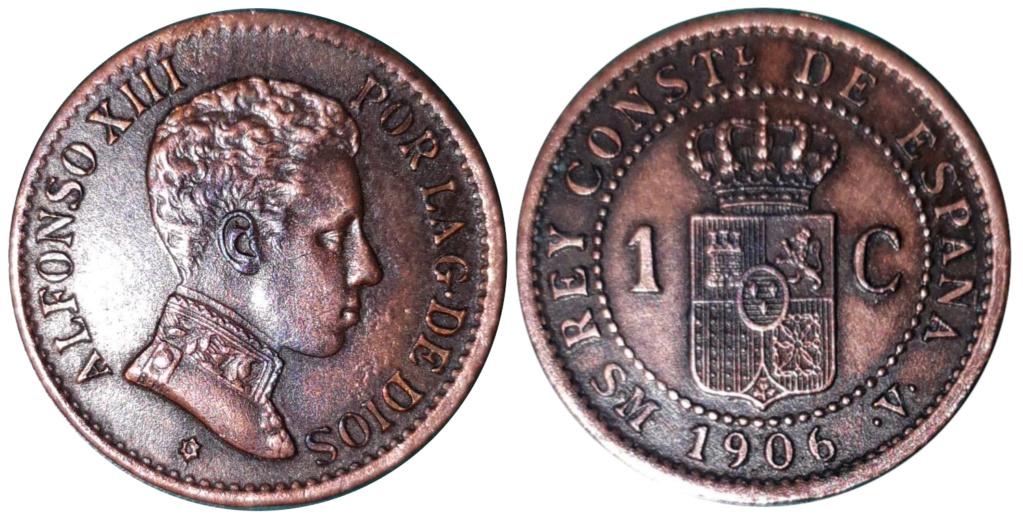 1 céntimo de Alfonso XIII 1906 SM.V 410