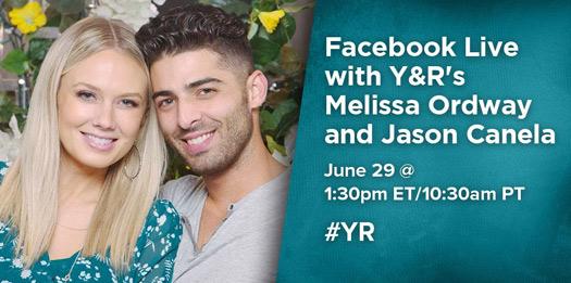 Прямой эфир с Melissa Ordway и Jason Canela. Fb10