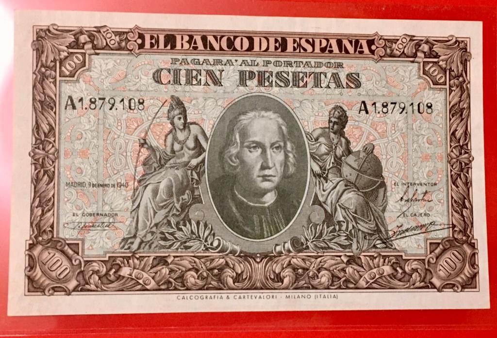 100 pesetas 9 Enero 1940  Colon 0538f910