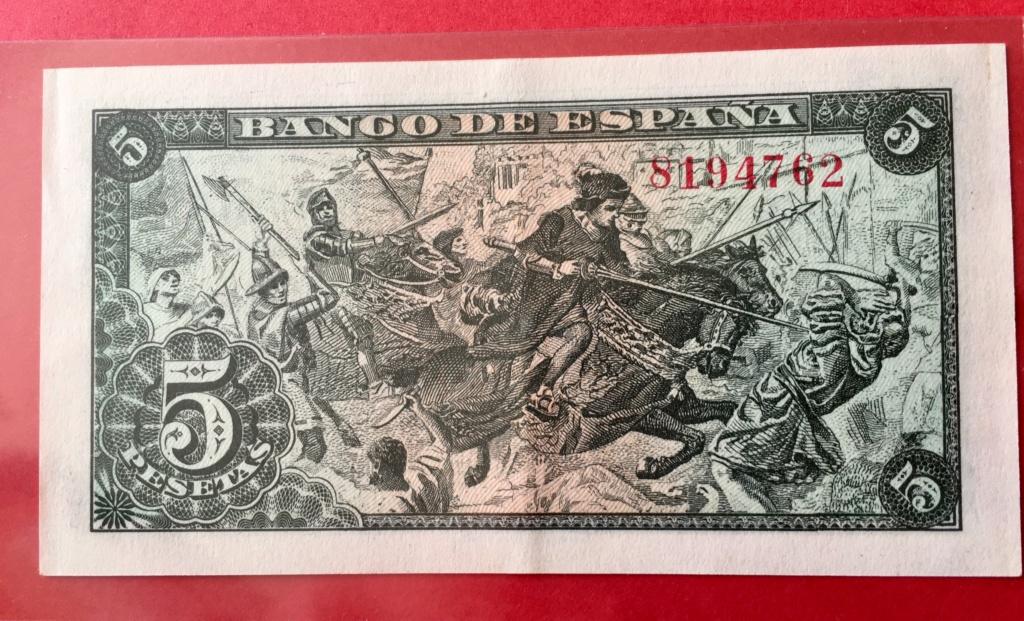 5 Pesetas 15 Junio 1945  (Capitulaciones de Santa Fe) 2919e110