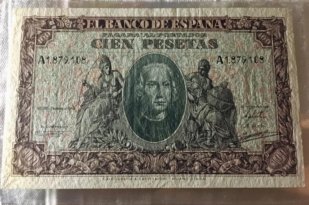 100 pesetas 9 Enero 1940  Colon 399a4910