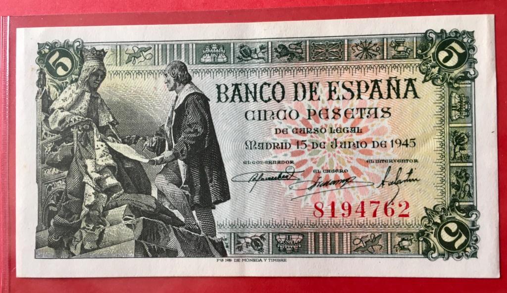 5 Pesetas 15 Junio 1945  (Capitulaciones de Santa Fe) 62318310