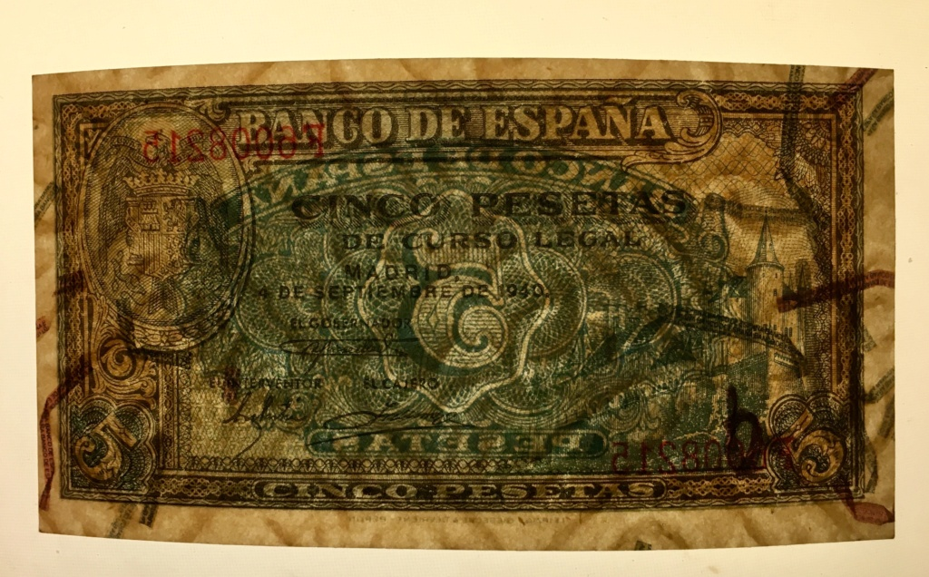 5 Pesetas 4 de Septiembre de 1940 Alcázar  64b0ce10