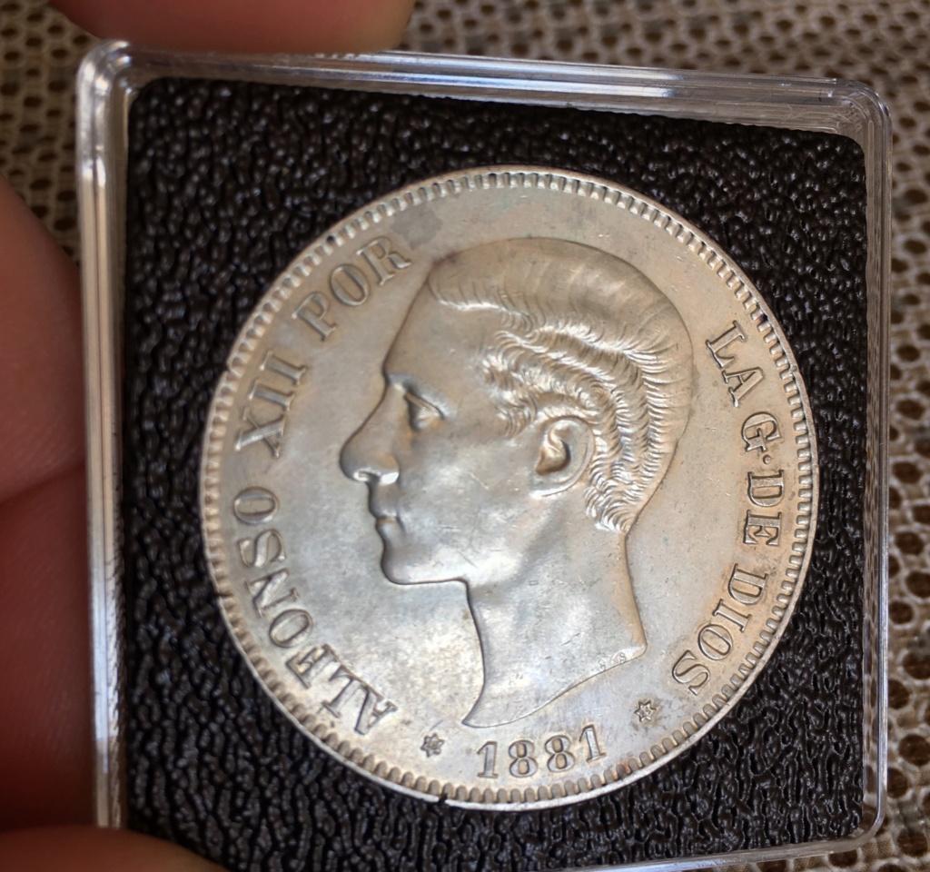 5 Pesetas 1881. Alfonso XII 88fb7a10