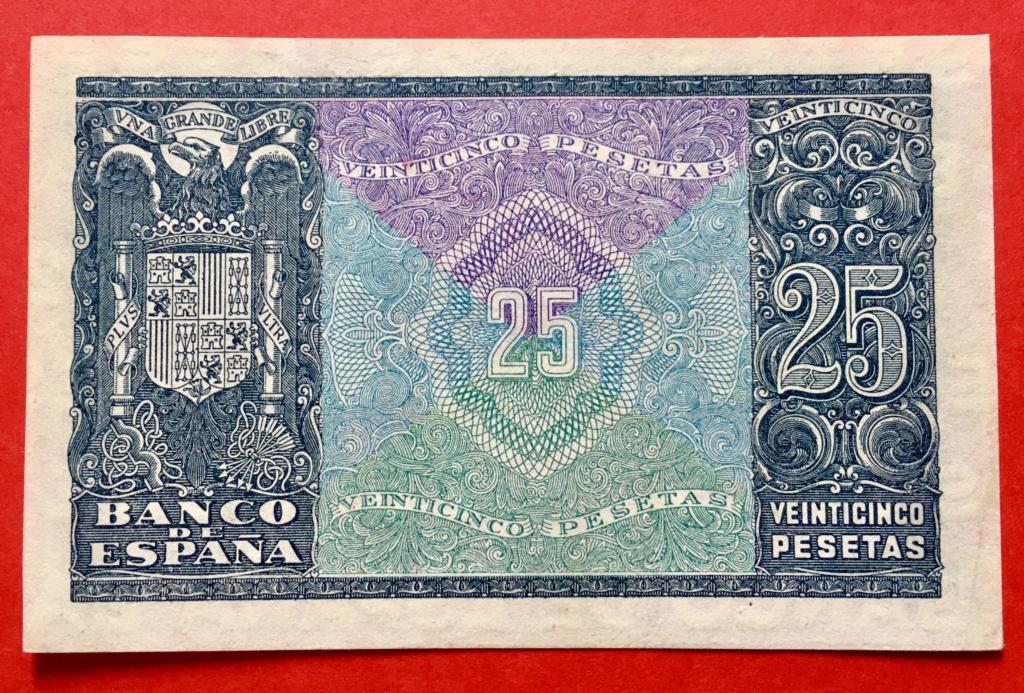 25 Pesetas 9 de Enero de 1940  Juan de Herrera 93721f10