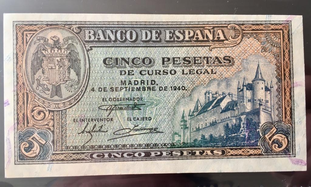 5 Pesetas 4 de Septiembre de 1940 Alcázar  93b46610
