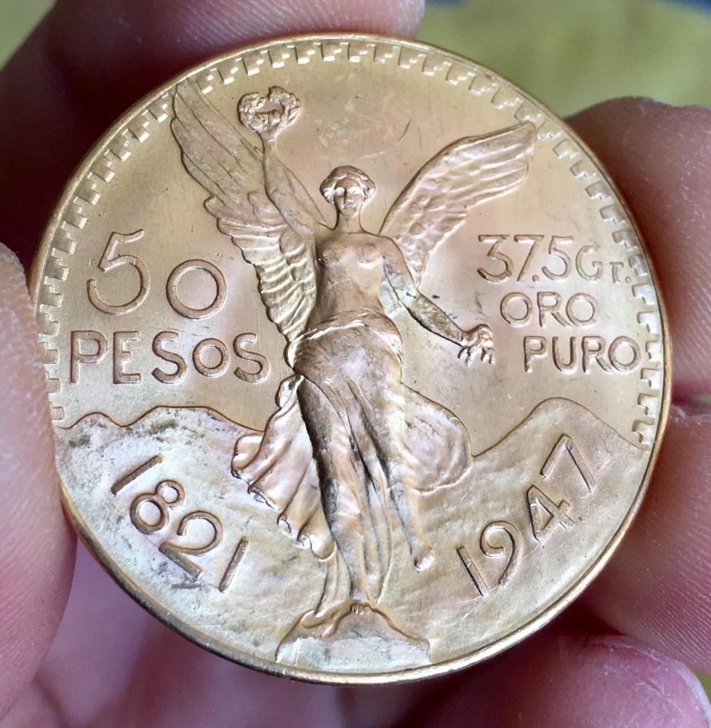 50 Pesos Centenario México  1947 Img_5013