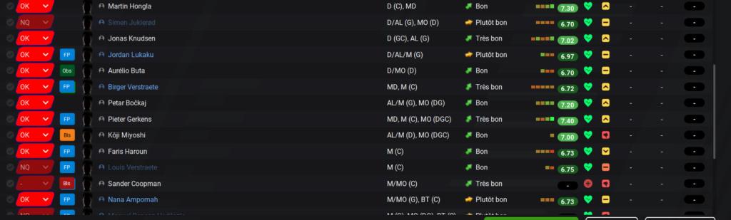 Enregistrement des joueurs - Jupiler Pro League Ant310
