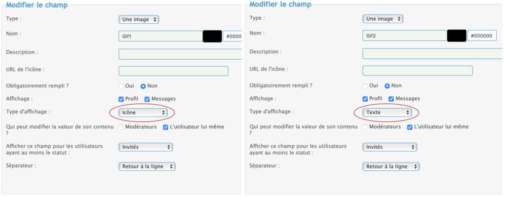 Déplacer un champ du profil avec un label vide Captur13