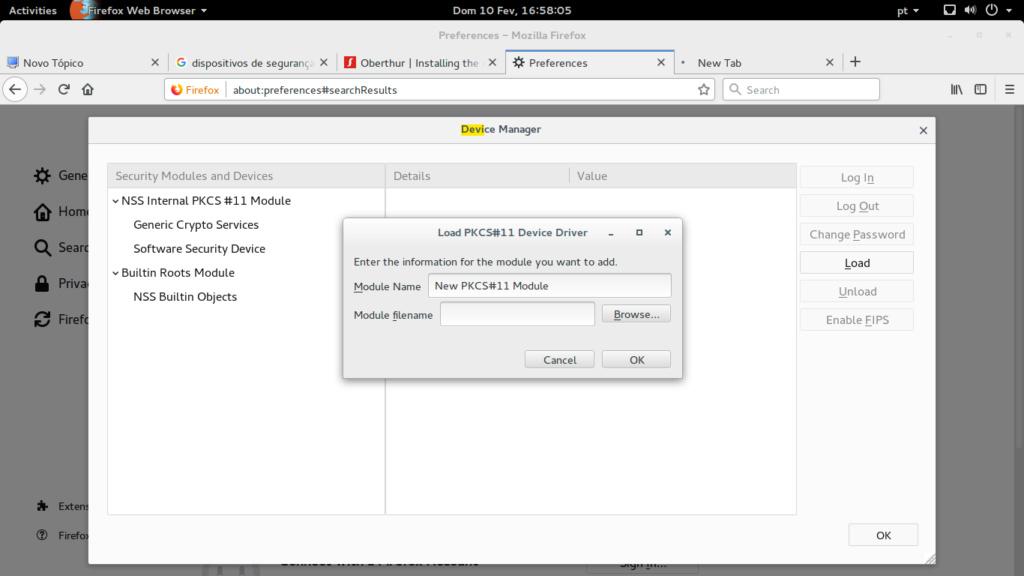 Instalando Modulo de Segurança token SafeNet  Screen11