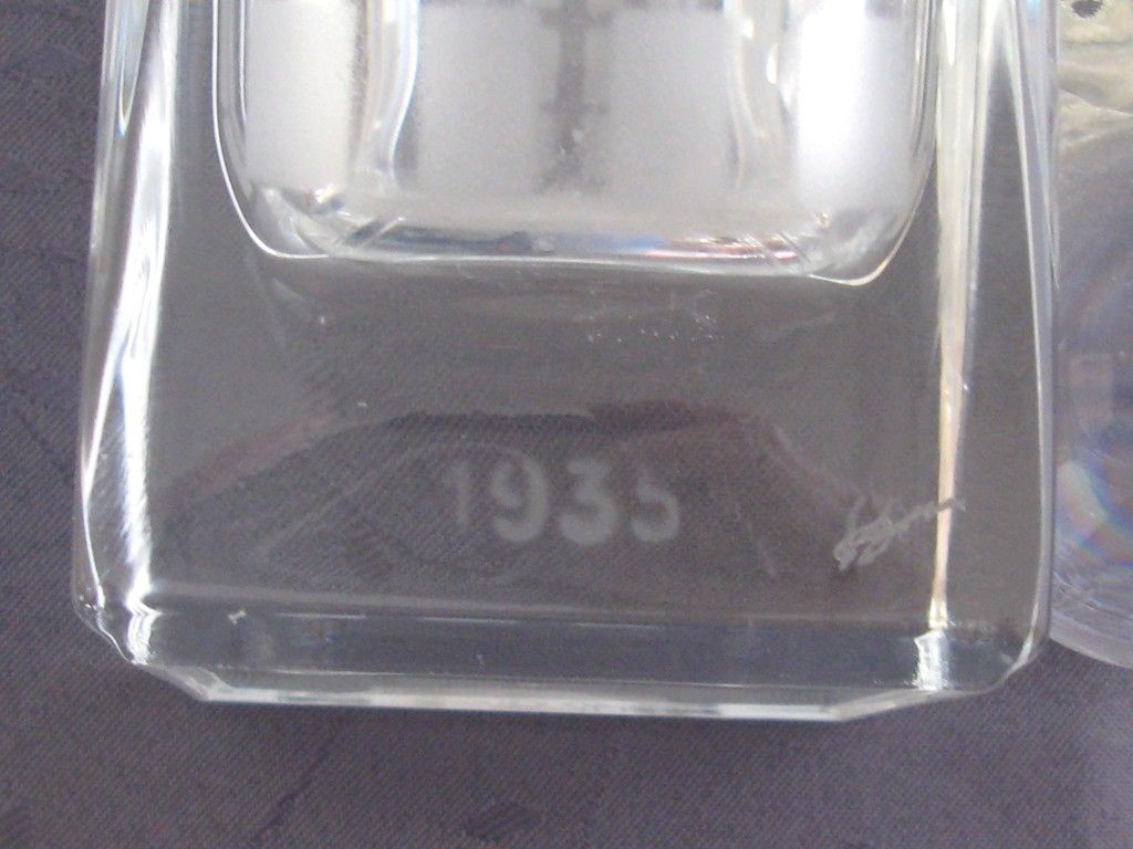Vase en Verre Art Déco signé A.RIECKE - 1937 013_zp10