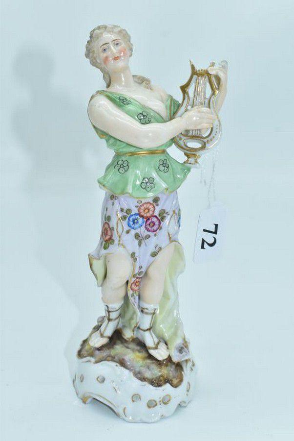 Paire de statuettes figurant les Muses Thalie Masque ? E/A Muller Allemagne? Vers 1900 ?  A3fcb010