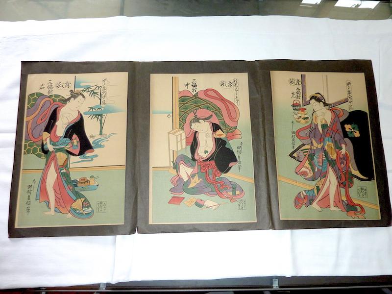 reproduction estampes japonaises de ou dans le gout de Tamura SADANOBU (source: Ismatheque) P1250524