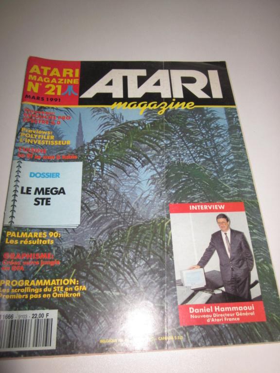 Délottage des jeux Brocante de la Terre du Milieu, MD, MS, GC, DS, Vieux magazines Micros Atari... Img_3535