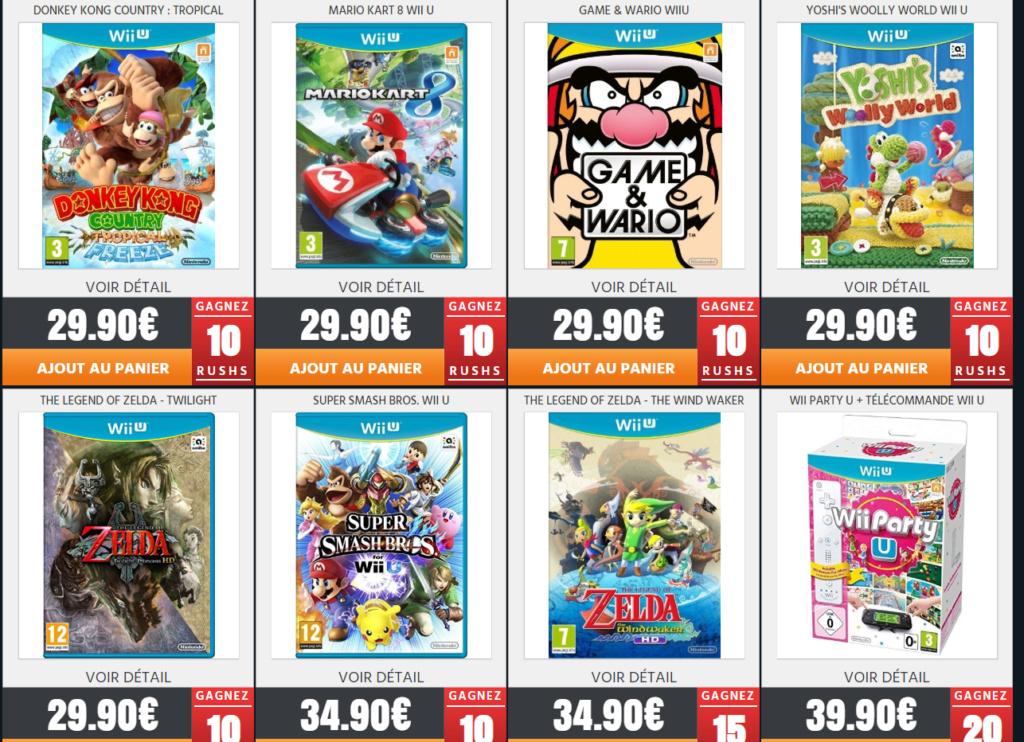 Jeux Wii U neuf sur Rush On Game pour les Fullsetteurs ou autre Wii510