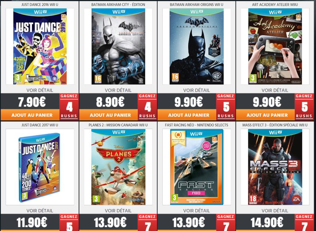 Jeux Wii U neuf sur Rush On Game pour les Fullsetteurs ou autre Wii_210