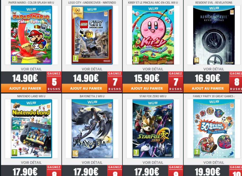 Jeux Wii U neuf sur Rush On Game pour les Fullsetteurs ou autre Wii_310