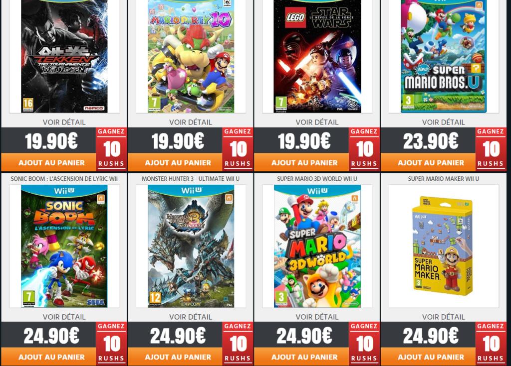 Jeux Wii U neuf sur Rush On Game pour les Fullsetteurs ou autre Wii_410