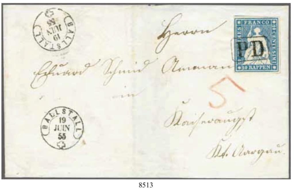 PD-Stempel auf Strubel-Inlandbrief 347f1310