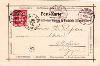 Nummer auf einer Briefmarke 77b6f010