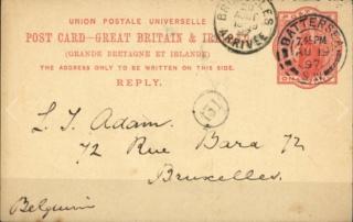 Nummer auf einer Briefmarke Db417010