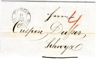 Ortsbrief von und nach St. Gallen in der Zeit von 1.1.1850-30.09.1850 Img50410