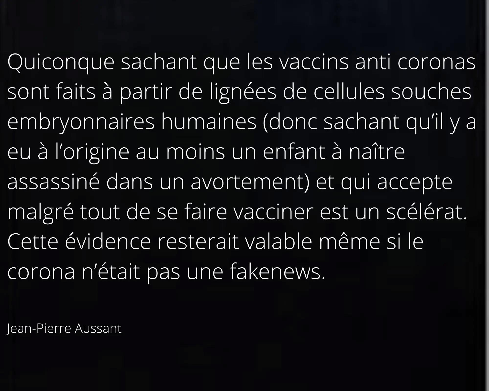 FONTGOMBAULT VACCINÉ à PFIZER-AVORTEMENT !!! Jean-p11