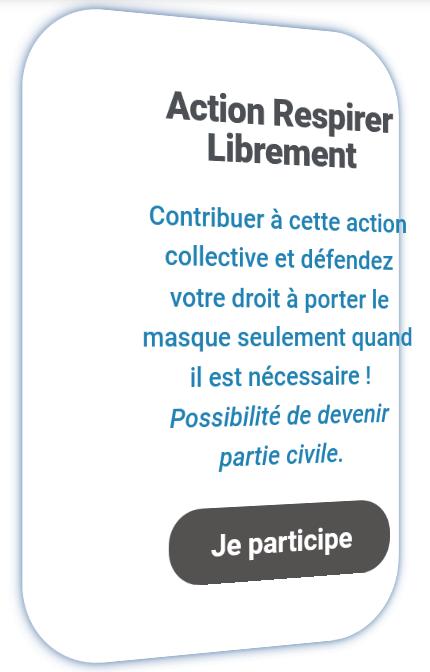 RESPIRER LIBREMENT : ACTION COLLECTIVE relative au PORT du MASQUE Respir10