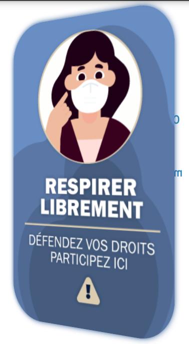 RESPIRER LIBREMENT : ACTION COLLECTIVE relative au PORT du MASQUE Respir11