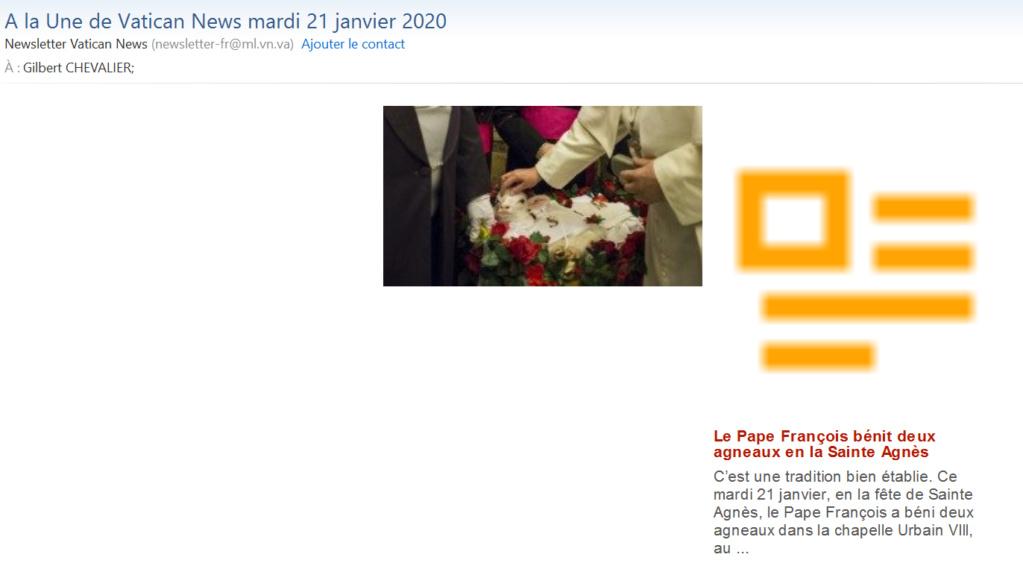 News au 23 janvier 2020 Vatica10