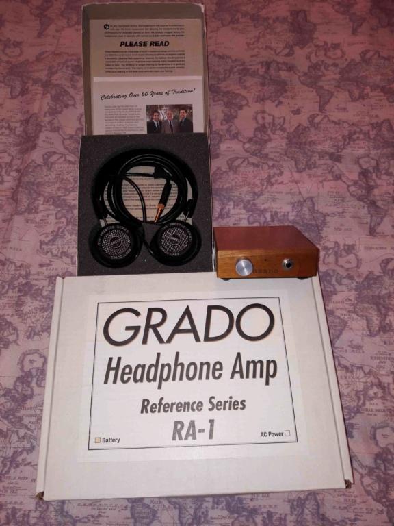 ( VB ) Vendo Amplificatore Cuffie GRADO RA-1 (a batteria). 01-e10
