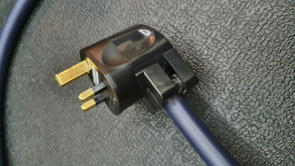 Furutech Power Cable, UK plug, Alpha Nano Series Cable (Used) F610