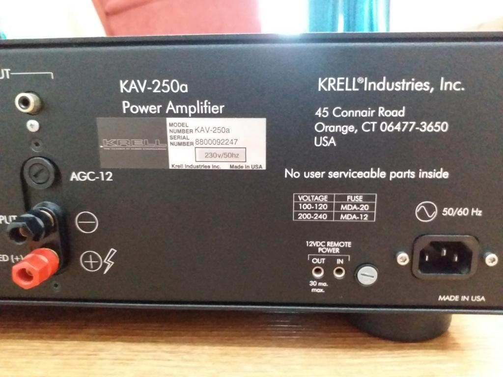 KRELL KAV250A AMPLIFIER Krell411