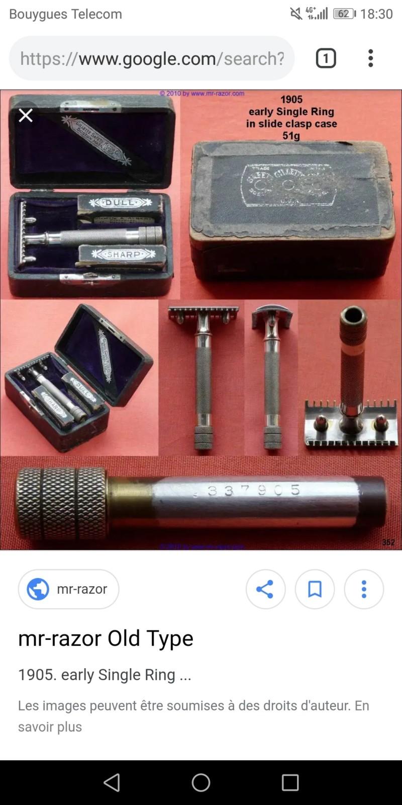 Rasoir gillette old type 20190210