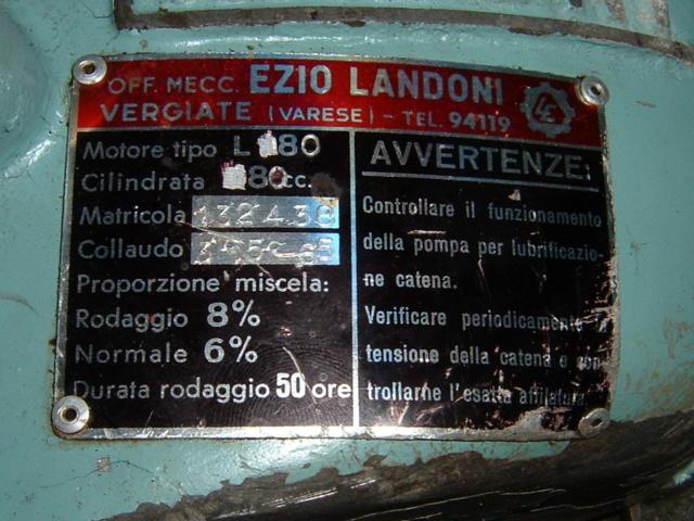 Motosega Landoni 1965 -80 cc. Dscf0015
