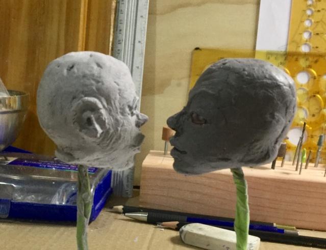 Mes premieres scultures de tete.  5e0bc910