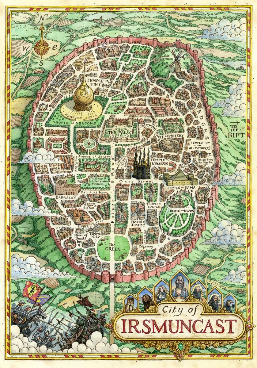 Cartes des Voie du Tigre en couleurs issues de l'édition UK Irsmun10