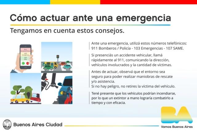 Cómo actuar ante una emergencia. - Buenos Aires Ciudad. Colisi10